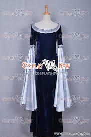 Lord Rings Halloween Costume Lord Rings Cosplay Arwen Blue Costume