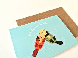 cuddly otters card by the matters notonthehighstreet