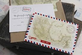 postcard wedding invitations vintage travel postcard wedding invitation air mail