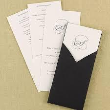 bling wedding programs black pocket wedding program ecru be unique house your