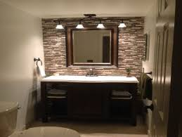 Mirror With Light Bathroom Delightful Bathroom Mirrors With Lights Above 0957b