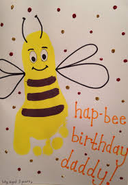 hap bee birthday u0027 footprint card crafts pinterest footprints