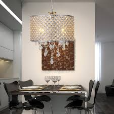 Modern Crystal Chandeliers For Dining Room by Lightinthebox Drum Chandelier Crystal Modern 4 Lights Modern Home