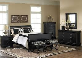 black sleigh bedroom set sleigh bed 6 piece bedroom set in black finish by liberty