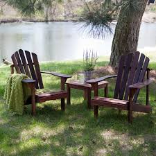 patio 3 piece set 3 piece patio furniture set 2 adirondack chairs and side table