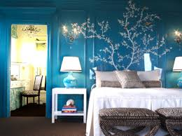 Fascinating  Large Bedroom Wall Ideas Decorating Design Of Best - Blue and black bedroom ideas