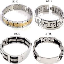 silver stainless steel bracelet images Mens stainless steel chain bracelet images jpg