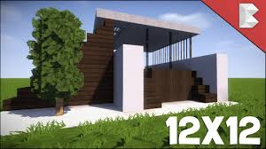 minecraft 12x12 modern house tutorial how to build best
