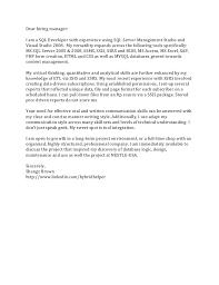 sql developer cover letter exol gbabogados co