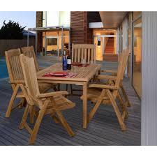 amazonia zurich teak 7 piece patio dining set sc zurich the home