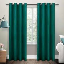 Teal Curtains Teal Window Treatments The Home Depot