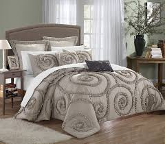 amazon com chic home rosalia 11 piece ruffled etched embroidery