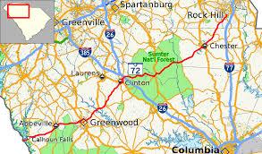 sc highway map south carolina highway 72