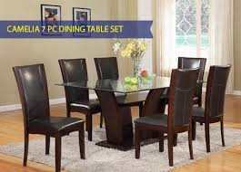 glass top dining table set 6 chairs leon furniture buy dining room furniture sets online phoenix