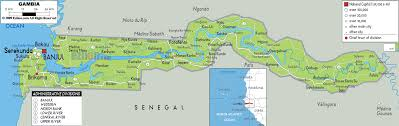africa map gambia physical map of gambia ezilon maps