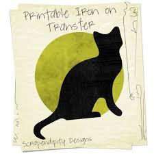 scrapendipity designs black cat iron on transfer pattern black