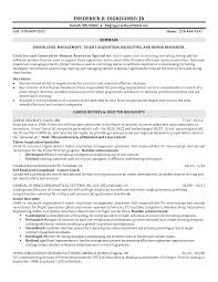 Resume For Human Resources Sample Resume For Hr Recruiter Position Free Resume Example And