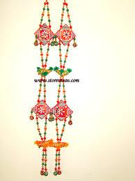 buy wall hanging door hanging gujarati of birds beads u0026 red