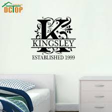 home decor design names aliexpress com buy dctop customized name removable vinyl wall