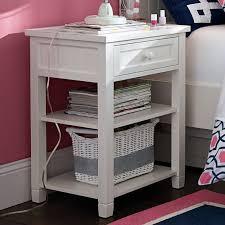 Bedside Table Desk Beadboard Bedside Table Pbteen