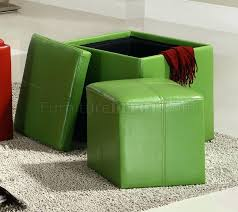 Green Storage Ottoman Storage Ottoman Green Storage Cube Ottoman By Set Of 2 Green