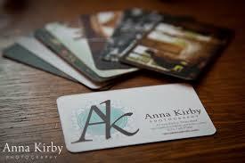 Business Card Wedding Wedding Photographer Business Card Anna Kirby Photography