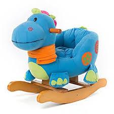 siege a bascule bebe labebe cheval à bascule enfant blue dinosaur jeu à bascule bois