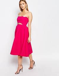 boohoo clothing boohoo clothing cheap boohoo scallop edge prom dress pink women