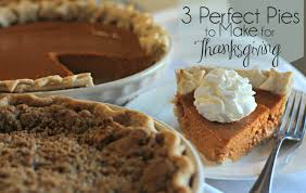 three pies to make for thanksgiving all in all
