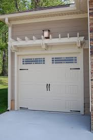 garage doors two car garage with white attached pergola easy diy