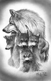 tundra wolf family drawing by bob patterson coloring pages