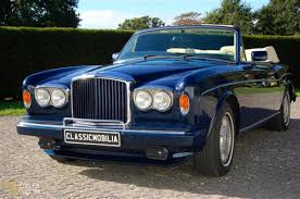 blue bentley classic 1989 bentley continental cabriolet roadster for sale