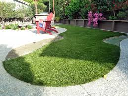 synthetic turf palm desert california landscape rock backyard