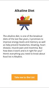 alkaline diet food list u2013 suitable for diet plans on the app store