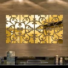 mirror decals home decor 32pcs set diy 3d acrylic mirror decal mural wall sticker home