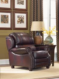 traditional high leg leather recliner by la z boy wolf and