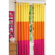 Pink And Orange Curtains Your Zone Chino Bedroom Curtains Pink Orange Stripe Walmart