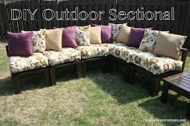 Outdoor Patio Furniture Sectionals Furniture Easy Diy L Shaped Patio Wooden Sectional Ideas For Both