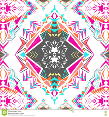 vector seamless texture tribal geometric pattern electro boho