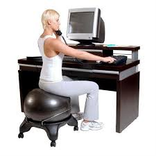 Desk Chair Workout 22 Best Exercise Ball Office Chair Images On Pinterest Exercise