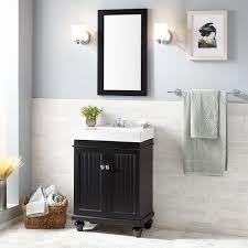 Black Bathroom Cabinet 24 Lander Vanity Black Bathroom