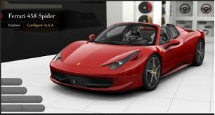 what is the price of a 458 italia 458 spider configurator builds your roadster