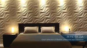 3d Bedroom Wall Panels In Pietra Usa Amazing 3d Wall Panels Youtube