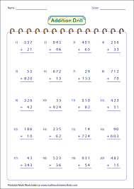addition with and without regrouping 3 digit addition worksheets