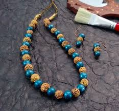 terracotta rudraksha designer jewellery buy terracotta jewellery