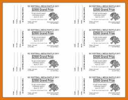 raffle ticket template free letter format business