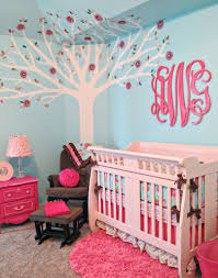 pink and aqua monogram nursery project nursery