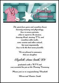 nursing school graduation invitations caduceus pinning ceremony invitation cards with nursing