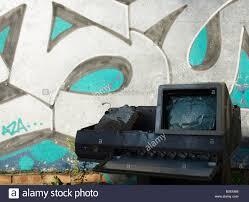 computer graffiti computer and graffiti stock photo royalty free image 17538567