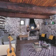 medieval house interior traditional brick wall decor with stone fireplace for medieval